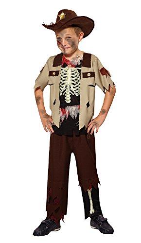 Bristol Novelty CF019 Skelett Sheriff Kostüm