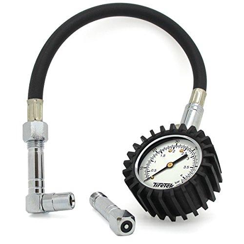 TireTek Flexi-Pro Medidor de presión de neumáticos, Heavy Duty coche y moto...
