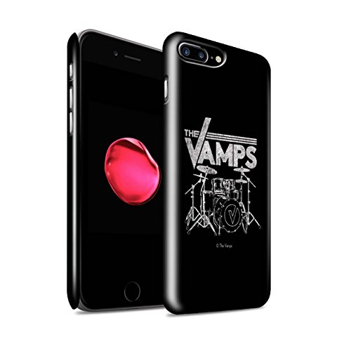 Offiziell The Vamps Hülle / Glanz Snap-On Case für Apple iPhone 7 Plus / VVV Muster / The Vamps Graffiti Band Logo Kollektion Schlagzeug