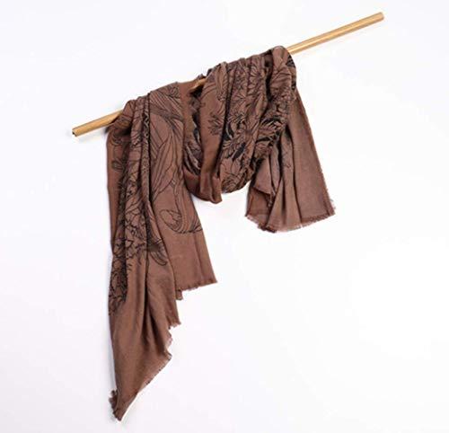 Damen Herbst Und Winter Warmes Hemd Mode Damen Wrap Comfort Print Jacke Decke Großen Schal,D,Einheitsgröße Print Wrap Jacke