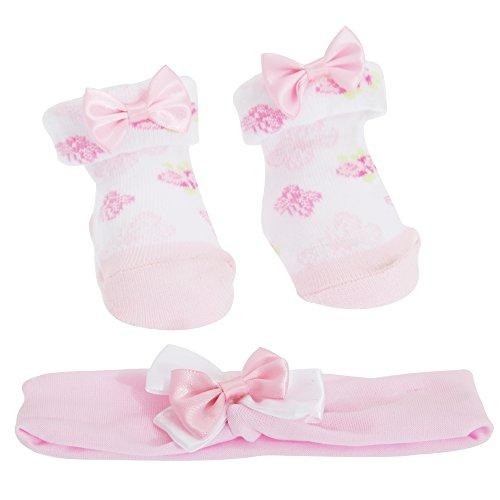 Ensemble chaussettes et bandeau - Bébé Fille (6-12 mois) (Papillon)