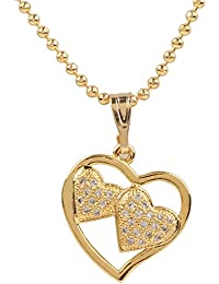 Ananth Jewels Heart Shaped Rose Gold Plated Pendant Necklace For Women - B073T4JCCM