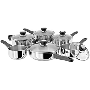 16//18//20cm SP 24 cm Saute Pan /& 20 cm Cass Judge Vista 6 Piece Set