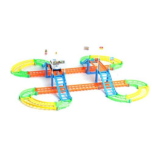 toymy Toy auto Rennbahn Twister Tracks elektrisches Pista da corsa per bambini fai da te giocattolo set