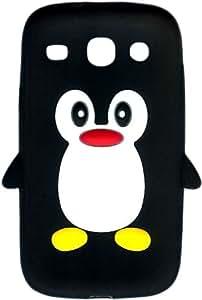 Nouveauté! Pingouin Mignon Étui / Housse / Coque en Silicone pour Samsung Galaxy Core i8260/ i8262 – Noir
