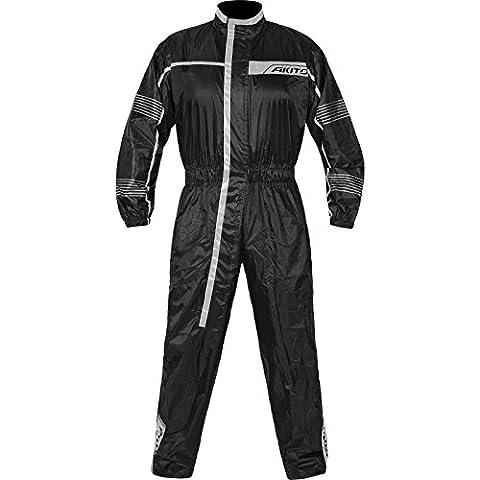 182489XL00 - Akito Cyclone 1 Piece Motorcycle Rainsuit XL Black