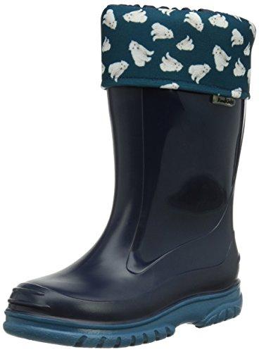 Romika Unisex-Kinder Eisbär Gummistiefel, Blau (marine-petrol 594), 32 EU -
