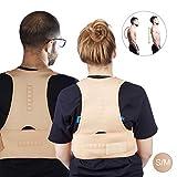 Relaxdays Haltungskorrektur Rücken, korrigierende Rückenstütze, Rücken Geradehalter, Damen & Herren, Größe L/XL, Natur
