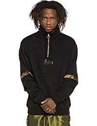 206c9dc829975 Grimey Sudadera Midnight High Neck Sweatshirt SS19 Black