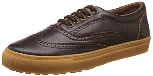 Knotty Derby Men's Alecto Wing Cap Brogue Brown and Tan Sneakers - 7 UK/India (41 EU)