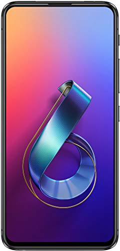 Asus ZenFone 6 Dual-SIM Smartphone (48 + 13 MP Flip-Kamera, 6, 4 Zoll (16 cm) FHD-Display, 128 GB interner Speicher, 6 GB RAM, Android 9.0 Pie, 5000 mAh Akku) - Midnight Black