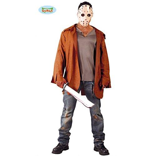 Serien Killer mit Hockeymaske - Kostüm für Herren Gr. M/L, (Killer Jason Kostüm)