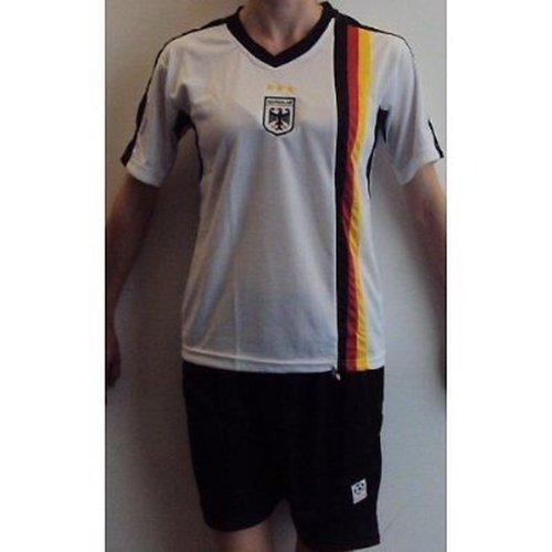 Fútbol Niños equipación de Alemania Blanco/Negro Talla: 146/152