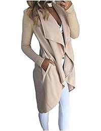 ASSKDAN Femme Automne Hiver Manteau Cardigan Pull Uni Casuel Chic