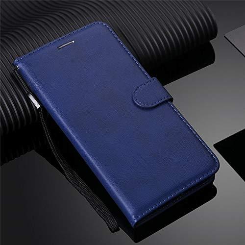 Erstklassige PU-lederne Telefon-Mappen-Kasten-Mappen-Abdeckung für Samsung-Galaxie-Anmerkung 4 Fall-lederne Schlag-Telefon-Abdeckung Coque für Samsung-Anmerkung 4 Premium-Handyhülle ( Color : Blue )