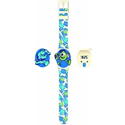 Monsters University Children's Quartz Watch with LCD Dial Digital Display and Multicolour Plastic Strap MU3