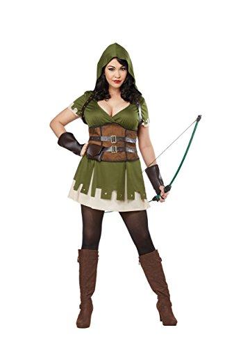Lady Robin Hood Plus Size Womens Fancy Dress Costume - Robin Hood Für Erwachsenen Plus Kostüm