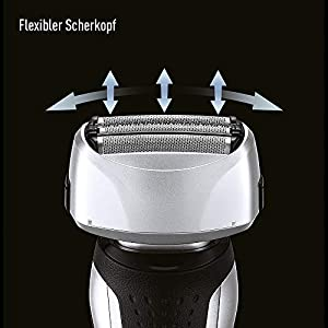 Panasonic Wet/Dry Ravor ES-RF31with 4Different Shaving Heads, Beard Trimmer for Men, Extremely Long Battery Life, Gentle Electric Razor