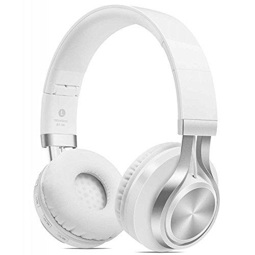 Kopfhörer Bluetooth integrierte weiße Funkmikrofon