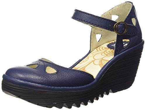 Fly LondonYUNA - Scarpe con Tacco donna Blu (Blu (Blue))
