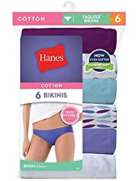c09a76f7fd Hanes Cotton Bikini - Six Pack Size 9 Colors Patterns May Vary From Photo