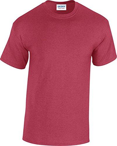 GILDAN -T-shirt  Uomo-Donna Rosso ciliegia antico
