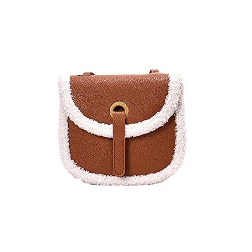Nr Mode Umhängetasche Lady Messenger Bag Vintage Textur Satteltasche, PU Braun -