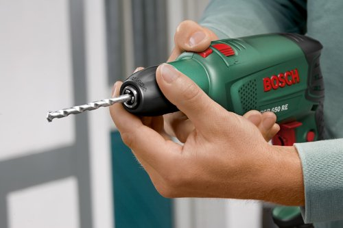 Bosch DIY Schlagbohrmaschine PSB 650 RE, Tiefenanschlag, Zusatzhandgriff, Koffer (650 W, max. Bohr-Ø: Holz: 30 mm, Beton: 14 mm) - 3