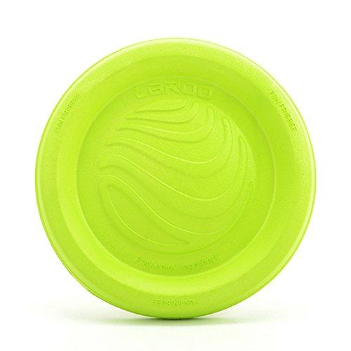 Hundespielzeug, LaRoo™ Hunde Flying Disc Hunde Frisbee ABS Material Floatable Hundespielzeug Pet Frisbee Tossing Toys für Welpen, Kleine, Mittlere und Große Hunde - Zitrone