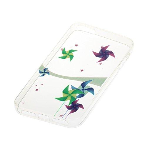 iPhone SE Silicone Case,iPhone 5S Coque,iPhone 5 Case - Felfy Coque Souple Transparente Gel TPU Soft Silicone Case Motif Design Premium Ultra-Light Ultra-Mince Skin de Protection Anti-Choc Bumper Hous Pinwheel