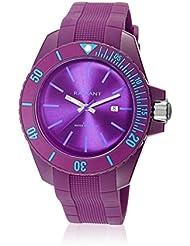 Radiant RA166603 - Reloj con correa de piel para hombre, color morado / gris