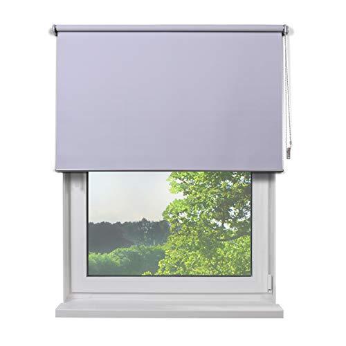 Fertig Verdunkelungsrollo, Rollos für Fenster, Rollo, Farbe weiß, zum Bohren und Schrauben, verdunkelnd und Blickdicht, 140 x 230 cm (BxH) -