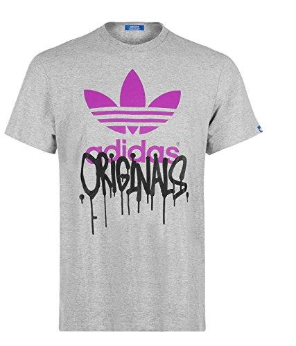 adidas T-Shirt uomo G Città TRF Medio Heather Grey