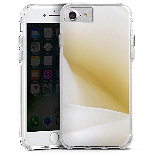 Apple iPhone 6s Bumper Hülle Bumper Case Glitzer Hülle Rose White Romantik Bumper Case transparent