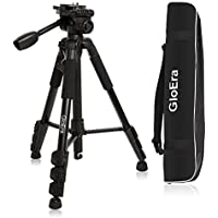 Camera Tripod, GloEra Aluminum Portable Travel Lightweight Camera Stand with Quick Release Mount for Canon Nikon Sony Samsung Olympus Panasonic Video Camcorder DSLR DV
