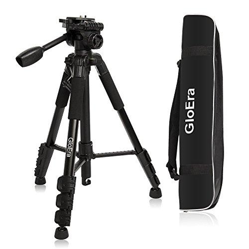 GloEra Kamera Stativ Aluminium Portable Leichte Kamera Ständer mit Schnellverschluss Halterung für Canon Nikon Sony Samsung Olympus Panasonic Video Camcorder DSLR DV