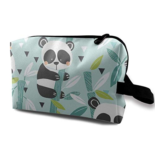 Pandas Bamboo Magic Makeup Bag Lazy Cosmetic Bag Portanle Travel Handbag -