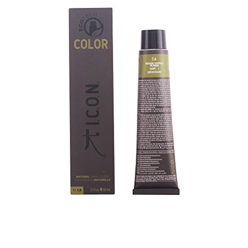 I.C.O.N. Ecotech Color Natural Color Colorazione Permanente, Unisex, 7.4 Medium Copper Blonde - 60 ml