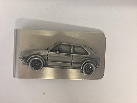 VW Golf GTI MK13d Effet étain Emblème sur un superbe Pince à billets Ref299