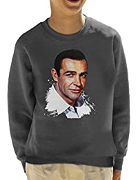 Alamy Sean Connery Paint Effect Kids Sweatshirt