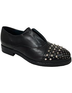 FABBRICA DEI COLLI scarpa donna nera con borchie mod 2DEAN104 100% pelle