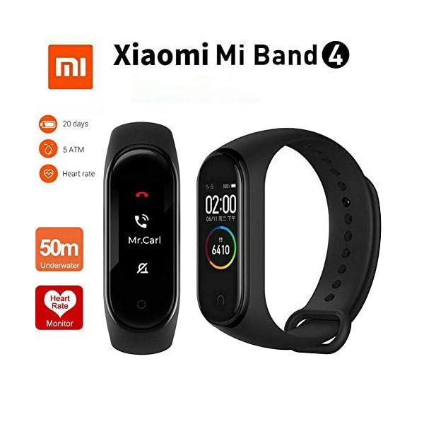 Xiaomi Band 4 Pulsera de Fitness Inteligente Monitor de Ritmo cardíaco 135 mAh Pantalla Color Bluetooth 5.0 más Reciente 2019, Negro 2