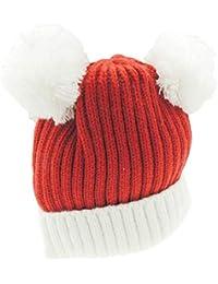 Bonnet en tricot côtelé super doux pour bébé fille garçon chaud d hiver ... 615fcf6e031