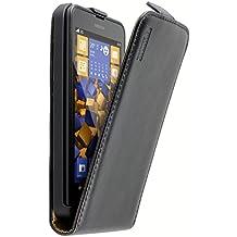 Mumbi - Custodia a flip in pelle per Nokia Lumia 630/635, nero