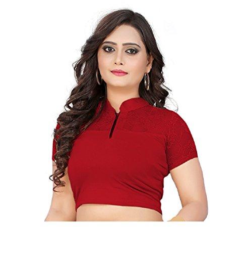 blouses designer womens readymade (77) (Maroon)