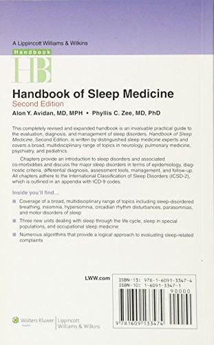 Zoom IMG-1 handbook of sleep medicine