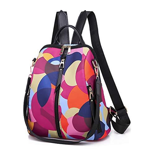 Multicolore Casual Donna i Viaggi Scolastici Moda con Chiusure Tramite Zip Borse a Zainetto Perfette per Regalo Disponibile in Una varietà di Stili (MulticoloreA)
