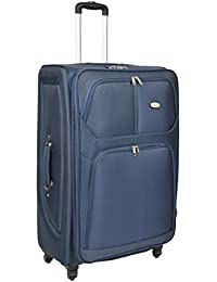Travel Suitcase 4 Wheels Spinner Trolley Expandable Lightweight Luggage H97 Blue