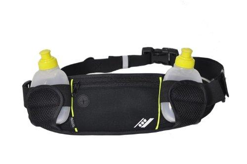 Rucanor - Cinturón para 2 botellas multicolor negro y amarillo Talla: