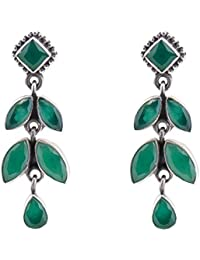 67d5dbb2d Silverwala 925-92.5 Sterling Silver Emerald Stone Fashion Stud Earring for  Women and Girls